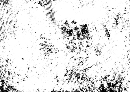 Schwarz-Weiß-Grunge-städtischer Texturvektor mit Kopienraum. Abstrakter Illustrationsoberflächenstaub und rauer schmutziger Wandhintergrund mit leerer Schablone. Not- und Grunge-Effekt-Konzept. Vektor.