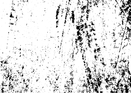 Black and white grunge urban texture vector with copy space. Abstract illustration surface dust and rough dirty wall background with empty template. Distress and grunge effect concept. Vector EPS10. Ilustração