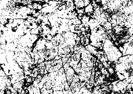 Black and white grunge urban texture vector with copy space. Abstract illustration surface dust and rough dirty wall background with empty template. Distress and grunge effect concept. Vector EPS10. Vettoriali