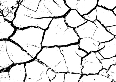 Black and white grunge. Distress overlay texture. Abstract surface dust and rough dirty wall background concept. Distress illustration simply place over object to create grunge effect . Ilustración de vector