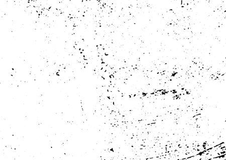 Grunge en blanco y negro. Textura de superposición de angustia. Polvo superficial abstracto y concepto de fondo de pared sucia áspera. La ilustración de socorro simplemente coloque sobre el objeto para crear un efecto grunge. Ilustración de vector
