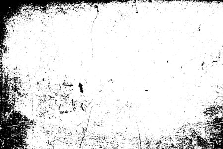 Black and white grunge. Distress overlay texture. Abstract surface dust and rough dirty wall background concept.  Distress illustration simply place over object to create grunge effect. Vector EPS10. Illusztráció