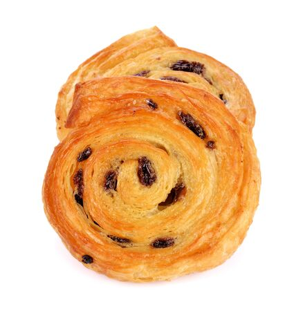 danish pastry isolated on white Stock Photo