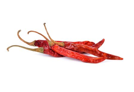 dry red pepper on white background Foto de archivo