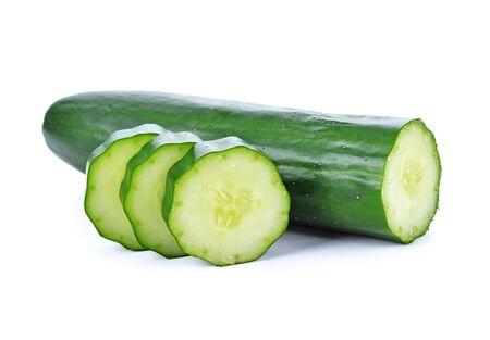 Cucumber isolated on white background Stockfoto