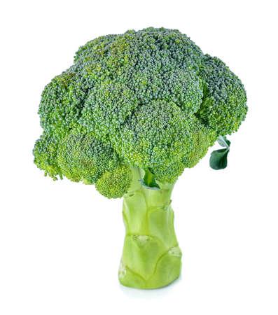 Broccoli isolated on white Standard-Bild - 163359334