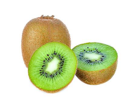Kiwi fruit isolated on white Standard-Bild - 163359737