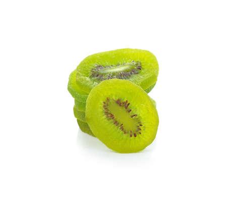 Dried kiwi isolated on white