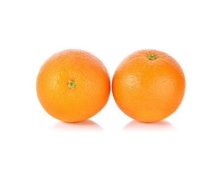 Orange fruit isolated on white background Standard-Bild - 160643359