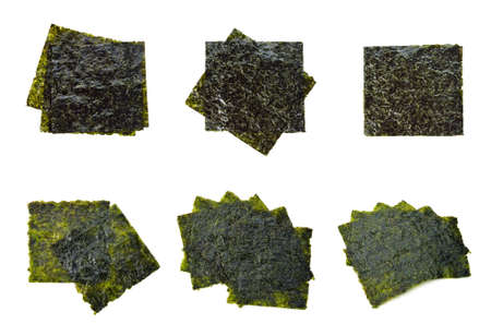 Nori sheets isolated on white background Standard-Bild - 160643303
