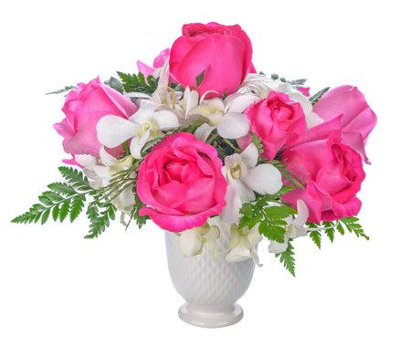 beautiful bouquet flower isolated on white background Standard-Bild