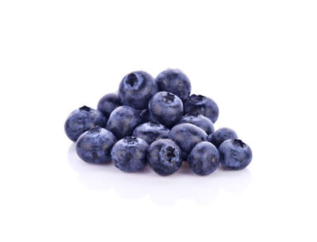 A heap of blueberries isolated on white