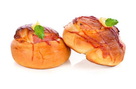 freshly baked bread isolated on white background Standard-Bild - 160699507