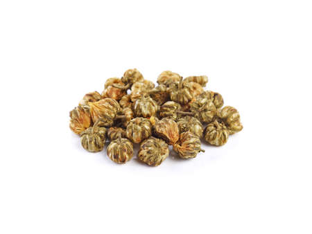 Dried chrysanthemum flowers isolated on white background 免版税图像