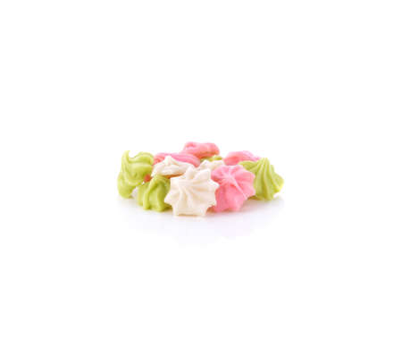 Aalaw candy isolated / colourful candies sweets dessert candy isolated on white background / thai traditional sweet dessert 免版税图像