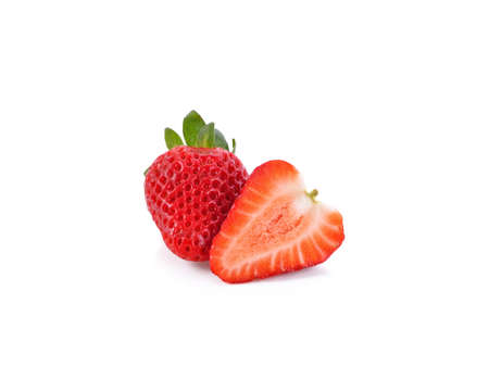 strawberry on white background 免版税图像