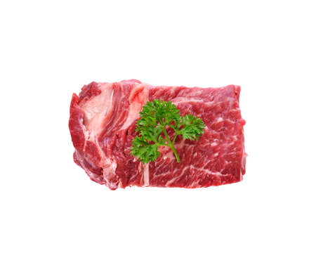 beef isolated on white background 免版税图像