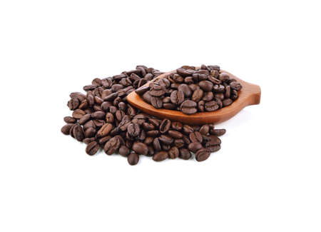 Coffee bean isolated on white background 免版税图像