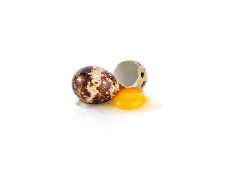 Quail eggs isolated on white background 免版税图像