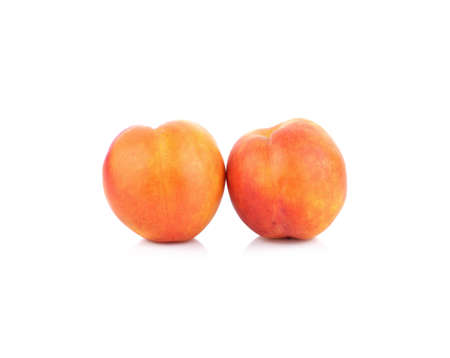 Peach isolated on white background