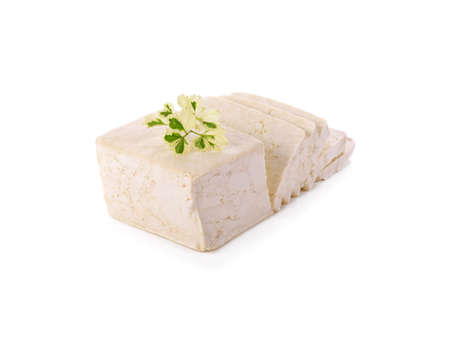 Tofu on the White background