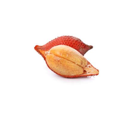 Salak fruit, Salacca zalacca isolated on the white background. Standard-Bild