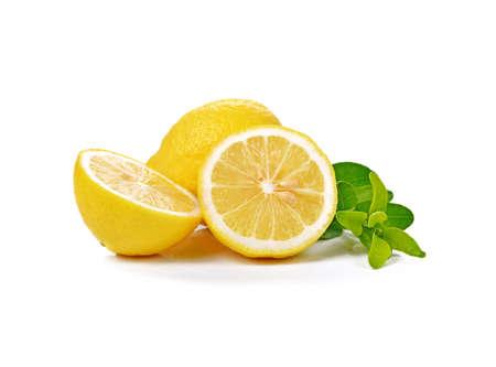 Fresh lemon isolated on white Standard-Bild