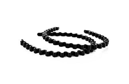 Black headband isolated on white background.