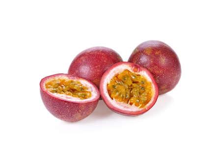 Passion fruit isolated on white background. Standard-Bild