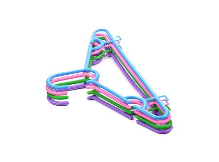 hangers isolated on white background. Standard-Bild