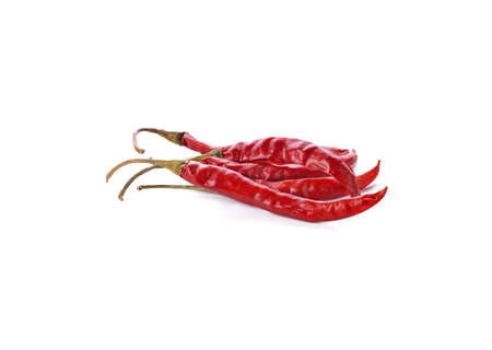 dry red pepper on white background Standard-Bild