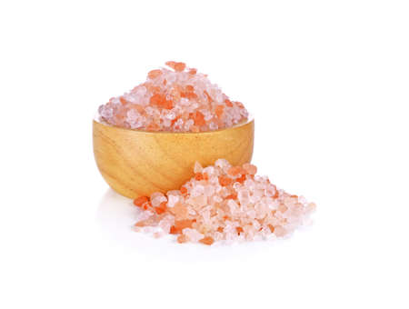 Himalayan Pink Salt isolated on white