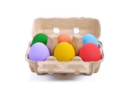 easter eggs isolated on white Standard-Bild