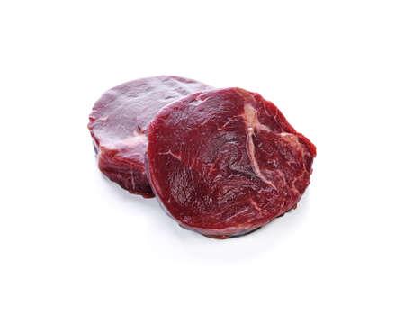 Beef tenderloin on white background
