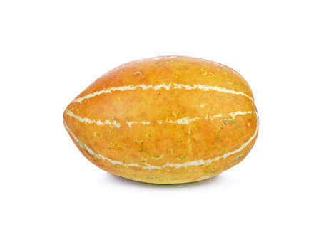 Yellow cantaloups on white background