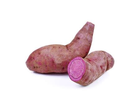 sweet purple potato isolated on a white background Standard-Bild