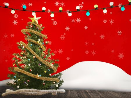 rendered: 3d rendered christmas decoration