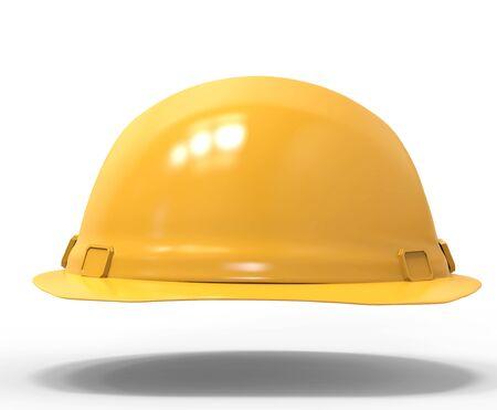 3d rendering yellow shiny safety helmet Stock Photo