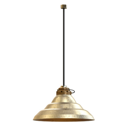electric fixture: 3d rendering pendant lamp isolated on white