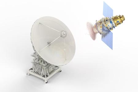 antena parabolica: 3d prestación por satélite y antena parabólica para la comunicación global