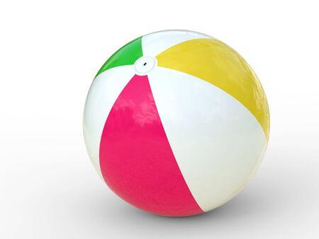 3d ball: 3d rendering colorful beach ball