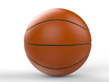3d ball: 3d rendering basketball ball Stock Photo