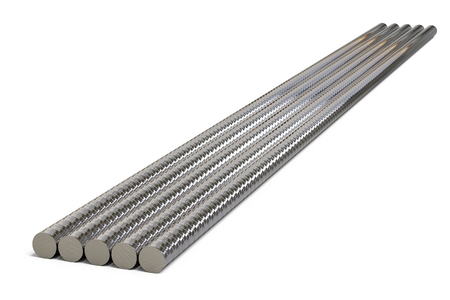 shiny metal background: 3d rendering shiny metal pipes on white background