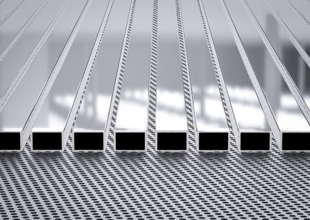 rendering: 3d rendering square pipes