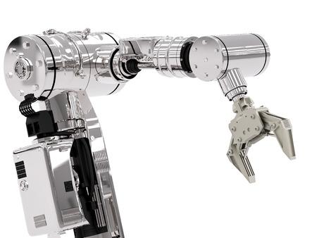 3d rendering robotic arm on white background Reklamní fotografie