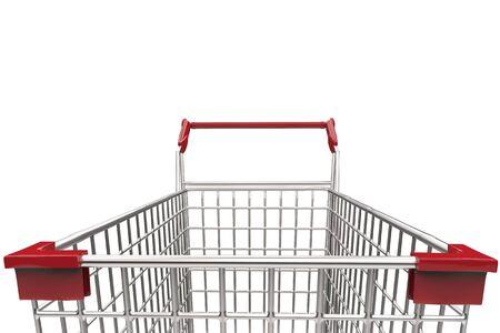 carretilla de mano: Las 3D de cerca carro de compras vacío