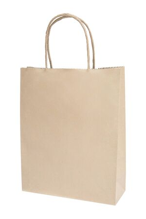 brown paper bag: brown paper bag isolated on white
