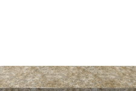 granite: 3d rendering granite countertop isolated on white