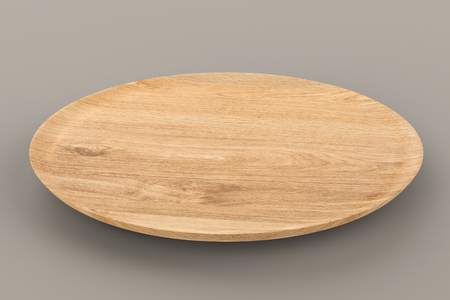 3d rendering empty wooden plate