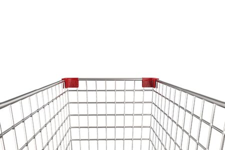 empty shopping cart: 3d rendering close up empty shopping cart